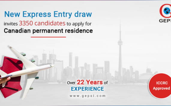 The New Express Entry Draw invites 3,350 Candidates to Apply for Canadian Permanent Residence