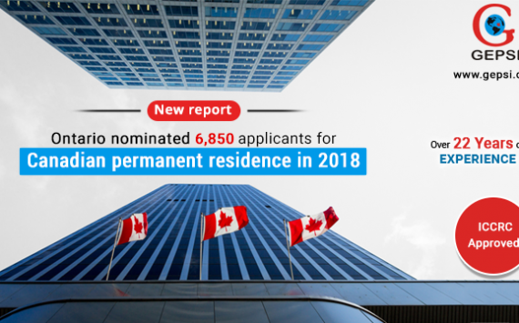 Ontario Nominated 6,850 Applicants for Canadian Permanent Residence in 2018