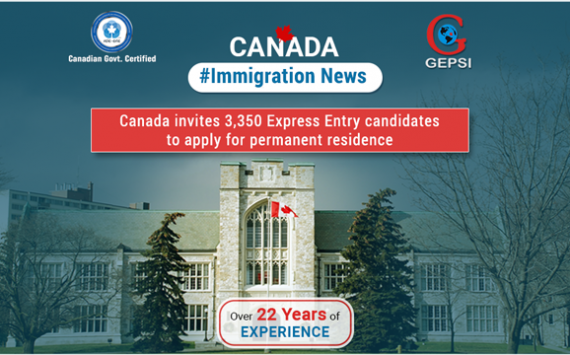 Canada Invites 3,350 Express Entry Candidates to Apply for Permanent Residence in the All-Programs Round