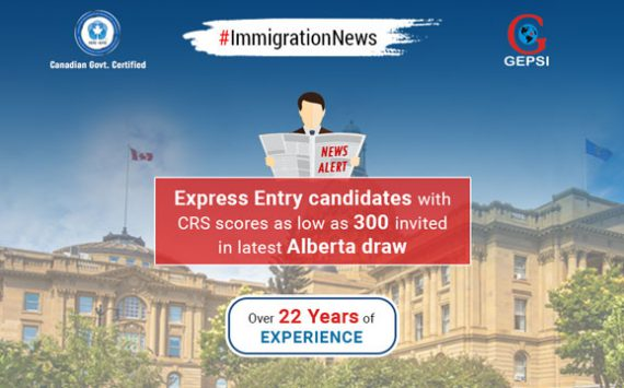 Alberta Province's Express Entry Draw Invites Candidates with CRS Score as Low as 300