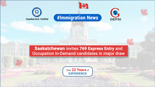 Saskatchewan Invites 769 Candidates Through Express Entry and Occupation In-Demand Sub Categories