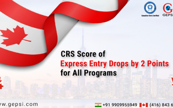 CRS Score of Express Entry Drops by 2 Points for All Programs