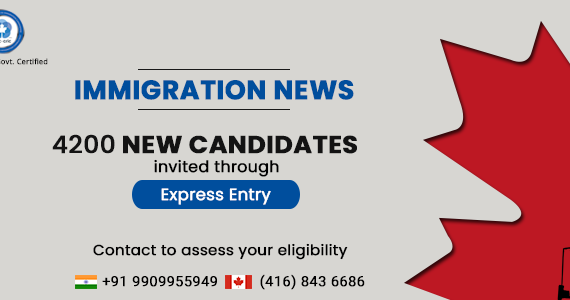 4,200 new candidates invited through Express Entry